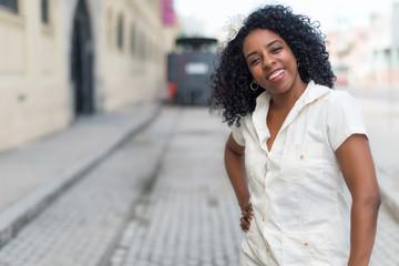 Beautiful black cuban woman