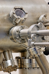Detail of machinery in physics laboratory