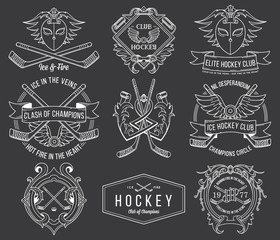 Hockey badges and labels vol. 1 white
