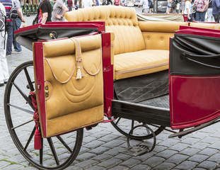 Beautiful old carriage for turists