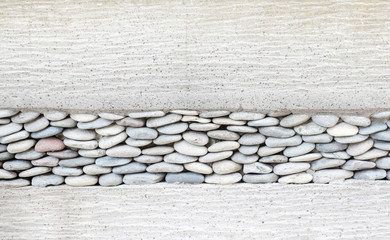 Wall layer with pebbles stone and cement,Texture background