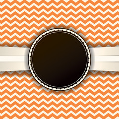 Retro Chevron Pattern and Ribbon with Badge