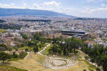 Theatre of Dionysos on the south slope of the Acropolis. Athens. Greece