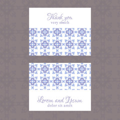 Business Card with geometric floral pattern