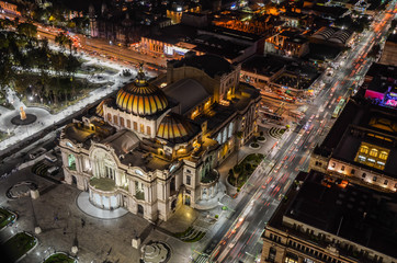 Palace of fine arts in Mexico City