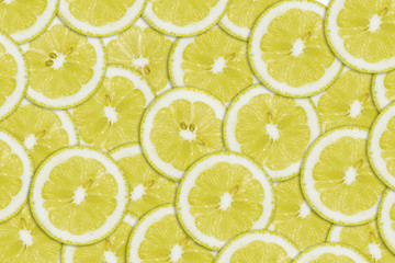 Pattern of yellow lemon slices