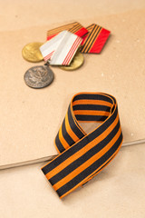 Victory Day. May 9th. St. George ribbon and medals
