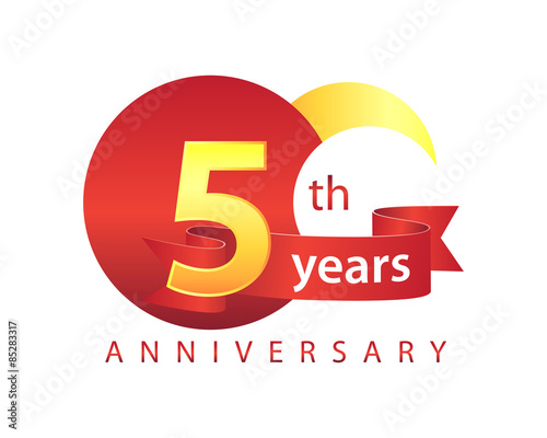 5 Years Anniversary Logo Stock Image And Royalty Free Vector Files