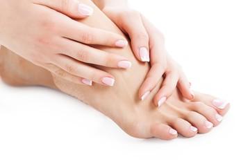 Foot, nail, woman.