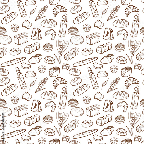 quot hand drawn bakery seamless pattern background  quot  stock doodle clip art nature doodle clip art images