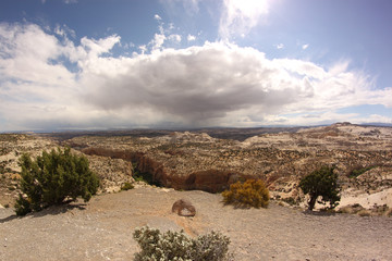 Scenic view to Canyon. Grand Staircase-Escalante National Monument, Utah, USA