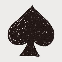 Spades doodle