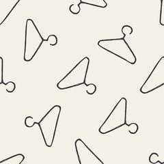 hanger doodle seamless pattern background