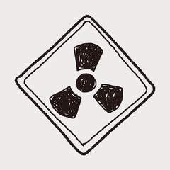 Nuclear power sign doodle