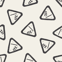 high wind doodle seamless pattern background