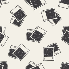 Doodle Photo seamless pattern background