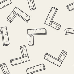 ruler doodle seamless pattern background
