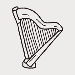 harp doodle
