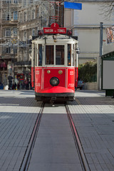 The old tram in Taksim