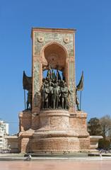 Republic Monument in Taksim square, Istanbul, Turkey.