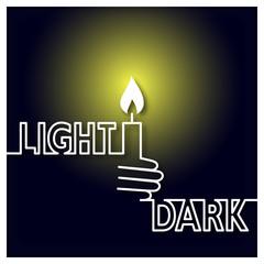 Light and Dark Icon