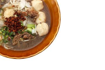 pork noodles in soup thai style
