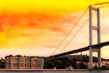 Bosporus Istanbul Brücke Palast goldenes horn