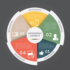 infographic elements pie chart