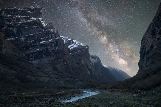 Milky Way over the Himalayas