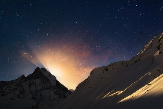 Moonrise in Himalayas