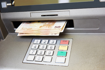 Euro cash withdrawal