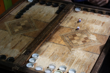 The backgammon Competition game