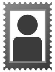 Dunkles Platzhalter Bild für Portrait