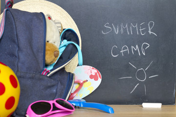 End of school summer holiday camp concept