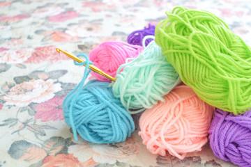 Yarn ball and crochet needle