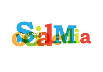 Social media calligraphy color transparent
