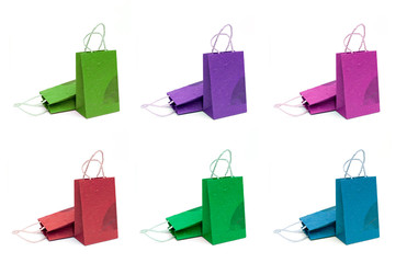 Design Natural paper handmade shopping bag set