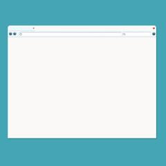 Vector illustration of browser window