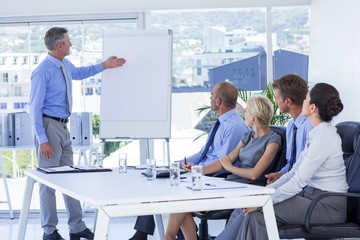 Business people listening during meeting