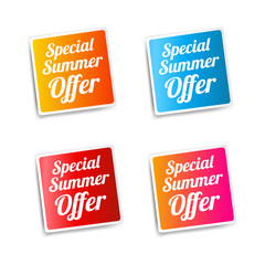 Special Summer Offer Stickers