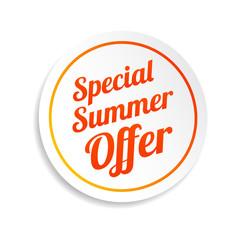 Special Summer Offer Sticker