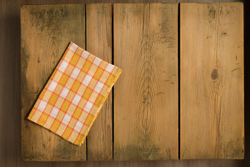 Cookbook background table/Picnic table with plaid cloth