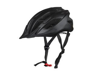 Черный велосипедный шлем.