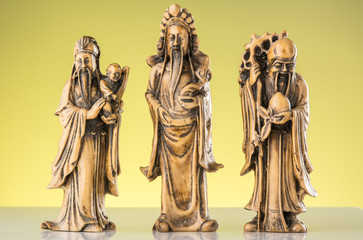 Image of three gods of China