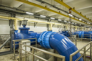 Water Pipeline in Water Treatment Plant