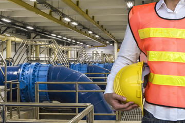 Backwash wter Pipeline in Water Treatment Plant