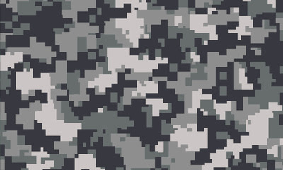 vector background of grey digital camoflage