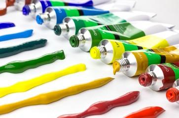 Verschiedene Acrylfarben - Konzept