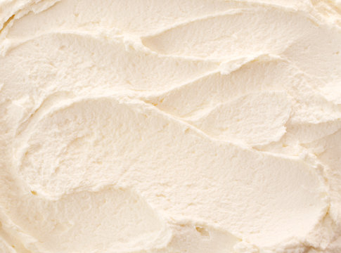 Delicious refreshing lemon or vanilla ice-cream