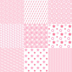 Baby cute patterns collection.